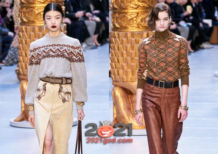 Модные свитера с орнаментом осень-зима 2020-2021
