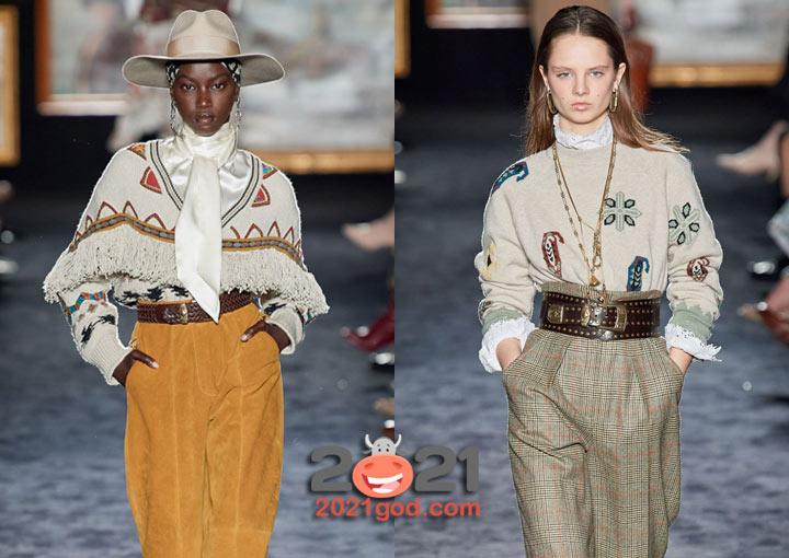Модные свитера в этническом стиле осень-зима 2020-2021