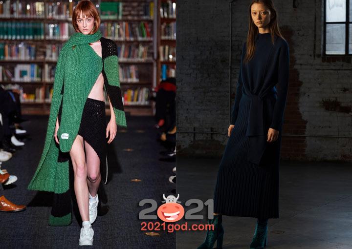 Вязаное платье - мода зимы 2020-2021
