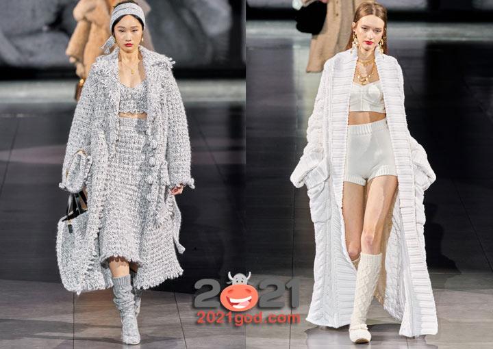 Модные вязаные пальто Dolce & Gabbana на 2021 год
