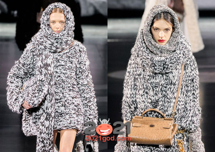 Модные вязаные шарфы 2021 года