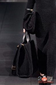 Модная вязаная сумка осень-зима 2020-2021