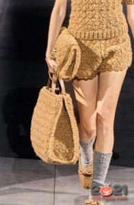 Комплект вязаных сумок - тренд сезона осень-зима 2020-2021