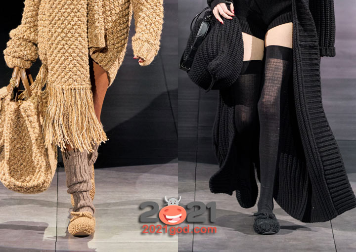 Модные вязаные туфли на зиму 2020-2021