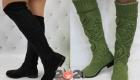 Модные вязаные сапоги на 2021 год