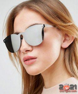 матовые очки металлик - мода зимы 2020-2021 года