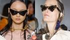 Модные треугольные очки зима 2020-2021
