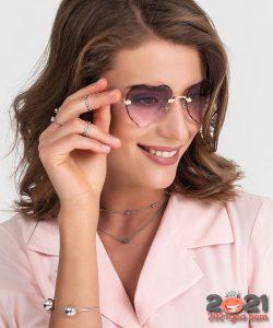 Сердечки с градиентом - модные очки 2020-2021 года