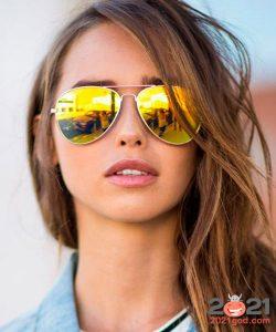 Цветные зеркальные авиаторы - мода зимы 2020-2021