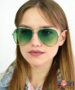 Зеленые очки авиаторы - мода зимы 2020-2021