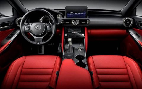 Цветовая гамма салона Lexus IS 2021