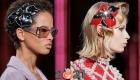 модные аксессуары зимы 2020-2021 - заколки для волос в форме цветов
