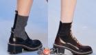 Модные ботильоны 2021 года на низком квадратном каблуке