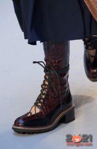 Ботильоны со шнуровкой и широким каблуком на зиму 2020-2021