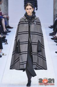 Модный полосатый кейп осень-зима 2020-2021