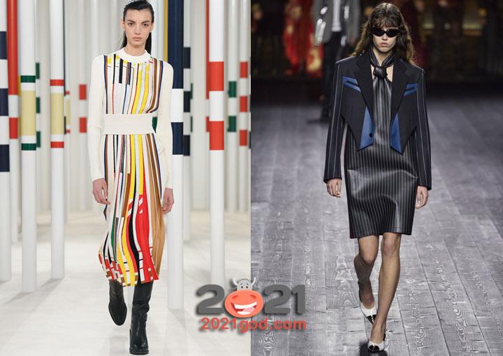 Модные полосатые платья на 2021 год