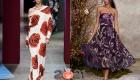 Крупные цветы - модный принт 2021 года