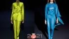 Модные цветные тотал-луки зимы  2020-2021 года
