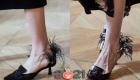 Туфли с перьями - модные идеи на зиму 2020-2021