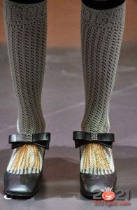 Туфли с бантиками от Гуччи осень-зима 2020-2021