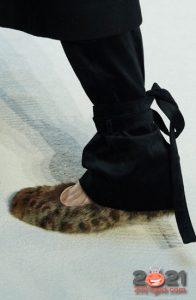Леопардовые меховые туфли на 2021 год