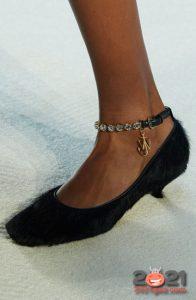 Черные меховые туфли на 2021 год