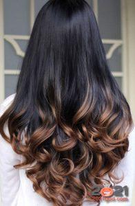Окрашивание кончиков на черных волосах в 2021 году