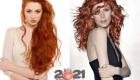 Модные оттенки рыжих волос на зиму 2020-2021