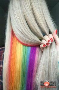 Радуга в волосах - модные идеи 2021 года