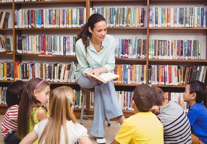 Чтение в библиотеке