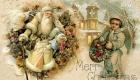 Рождественская ретро открытка