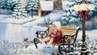 Старинная открытка С Рождеством Христовым