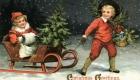 Старинная европейская открытка С Рождеством Христовым
