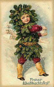 Красивые рождественские картинки в стиле ретро