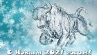 Новогодние картинки с белым Быком на 2021 год