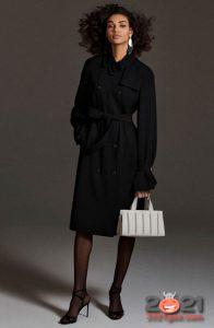 Черное классическое пальто Макс Мара осень-зима 2020-2021 года