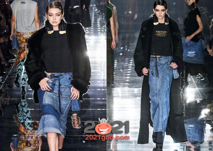 Модные черные дубленки зимы 2020-2021