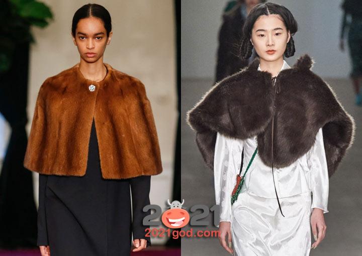 Модные меховые пончо зимы 2020-2021