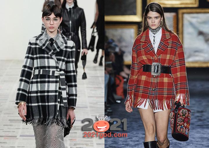 Клетчатые куртки Etro и Диор осень-зима 2020-2021