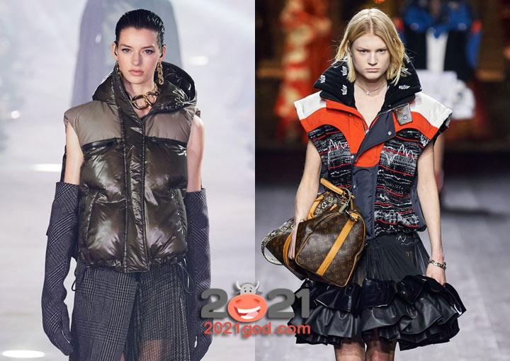 Модные жилеты Sacai и Louis Vuitton осень-зима 2020-2021