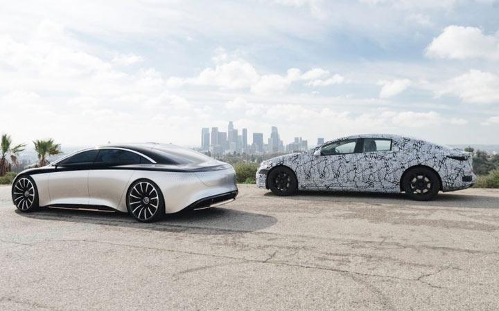 Mercedes EQS 2021 года
