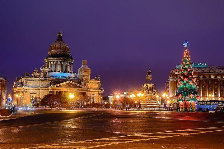 Санкт-Петербург на Рождество