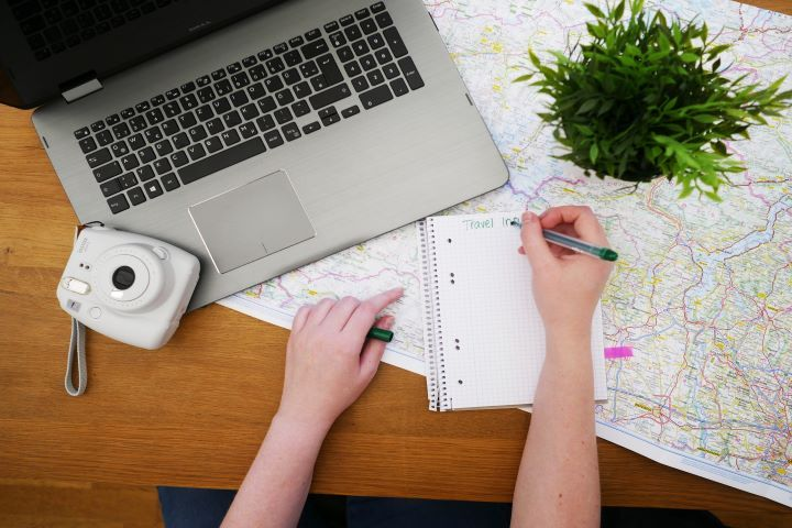 Планировать отпуск с картой