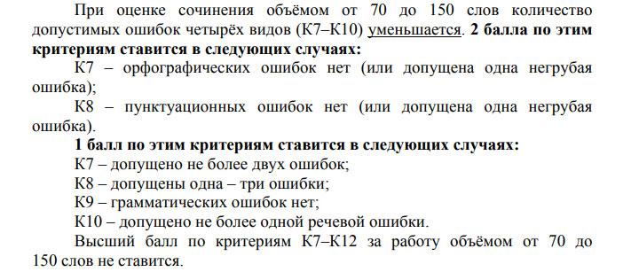 Основные требования к объему сочинения по русскому языку на ЕГЭ 2021 года