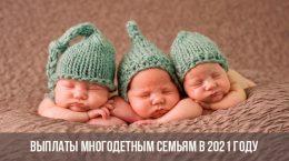 Помощь многодетным семьям в 2021 году