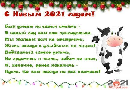 Прикольные поздравления на год Быка 2021 - идеи, стихи, приколы