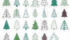 Разные варианты изображения елки на Новый Год 2021