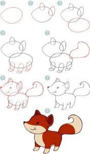 Рисунки на Новый Год 2021 - лисичка