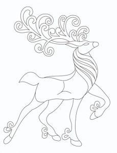 Рисунки на Новый Год 2021 - красивый олень