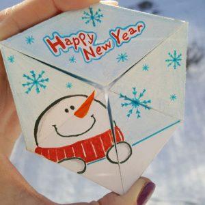 Новогодний рисунок - необычная открытка на Новый 2021 год своими руками